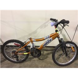 3 BIKES: ORANGE ROCK KIDS BIKE, BLUE STAR WARS BMX BIKE & BLUE SCHWINN KIDS BIKE