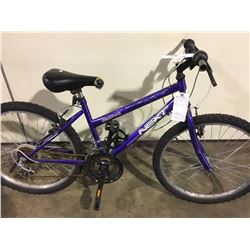 2 BIKES: PURPLE NEXT MOUNTAIN BIKE & BLACK RALEIGH FULL SUSPENSION MOUNTAIN BIKE