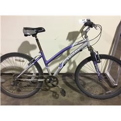 2 BIKES: GREY TRIBAL MOUNTAIN BIKE & GREEN NISHIKI MOUNTAIN BIKE
