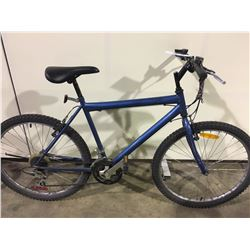 2 BIKES: BLUE 18 SPEED MOUNTAIN BIKE & PURPLE ROCKY MOUNTAIN MOUNTAIN BIKE