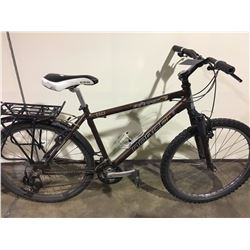 2 BIKES: BROWN NORCO FRONT SUSPENSION MOUNTAIN BIKE & YELLOW VELO SPORT MOUNTAIN BIKE