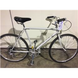 2 BIKES: WHITE 6 SPEED ROAD BIKE & WHITE ROAD BIKE