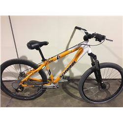 ORANGE SCHWINN HERA WID 7 SPEED FRONT SUSPENSION MOUNTAIN BIKE WITH FULL DISC BRAKES