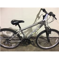 GREY IRONHORSE OUTLAW 18 SPEED FRONT SUSPENSION KIDS MOUNTAIN BIKE
