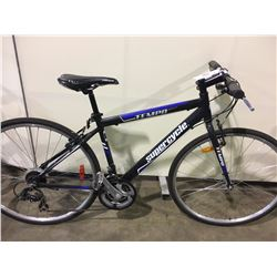 BLACK SUPERCYCLE TEMPO 21 SPEED HYBRID BIKE