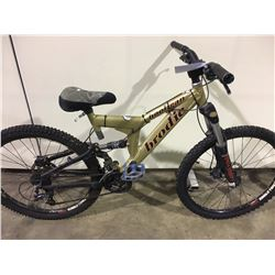 GOLD BRODIE HOOLIGAN 24 SPEED FULL SUSPENSION MOUNTAIN BIKE WITH FULL DISC BRAKES