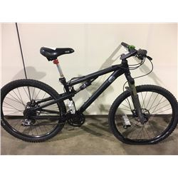 BLACK XC COMP 27 SPEED FULL SUSPENSION MOUNTAIN BIKE WITH FULL DISC BRAKES
