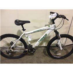 WHITE NORCO KATMANDU 21 SPEED FRONT SUSPENSION MOUNTAIN BIKE WITH FULL DISC BRAKES