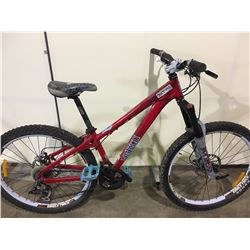 RED NORCO SHORE 27 SPEED FRONT SUSPENSION MOUNTAIN BIKE WITH FULL DISC BRAKE