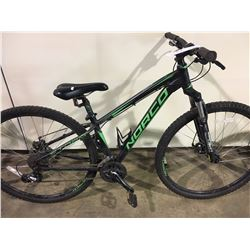 BLACK NORCO STORM 24 SPEED FRONT SUSPENSION MOUNTAIN BIKE WITH FULL DISC BRAKES