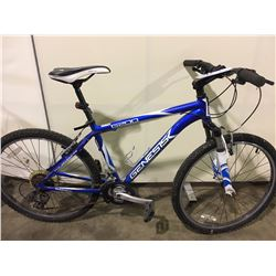 BLUE GENESIS G200 21 SPEED FRONT SUSPENSION MOUNTAIN BIKE