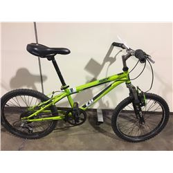 2 BIKES: GREEN NAKAMURA KIDS BIKE & GREY ARASHI MOUNTAIN BIKE