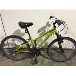 2 BIKES: GREEN NAKAMURA KIDS FRONT SUSPENSION MOUNTAIN BIKE & BLUE TRIUMPH MOUNTAIN BIKE