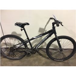 2 BIKES: BLACK TREK MOUNTAIN BIKE & GREY FULL SUSPENSION MOUNTAIN BIKE