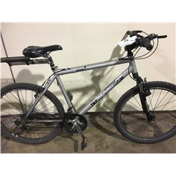 2 BIKES: GREY DIAMONDBACK FRONT SUSPENSION MOUNTAIN BIKE & GREY PATHFINDER MOUNTAIN BIKE
