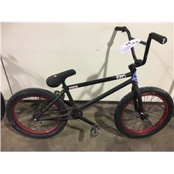 2 BIKES: BLACK BMX BIKE & BLACK MCKINLEY FULL SUSPENSION MOUNTAIN BIKE