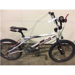 2 BIKES: GREY DIAMONDBACK BMX BIKE & GREEN CHAOS KIDS BIKE