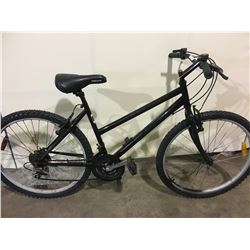 2 BIKES: BLACK MOUNTAIN BIKE & GREEN SUPERCYCLE FULL SUSPENSION MOUNTAIN BIKE