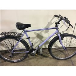 2 BIKES: PURPLE MOUNTAIN BIKE & BLACK MOUNTAIN BIKE