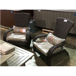 PAIR OF SUNBRELLA MUSKOKA PREMIUM DECK CHAIRS