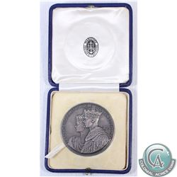 1937 Coronation of George VI & Queen Elizabeth Silver Medallion featuring The National Maritime Muse