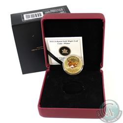 2010 Canada $75 14kt Gold Maple Leaf Coin - Winter (Tree Bark).