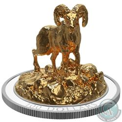 2017 $100 Sculpture of Majestic Canadian Animals - Bighorn Sheep (TAX Exempt)
