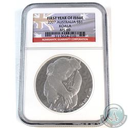 2007 Australia $1 Koala 1oz .999 Silver First Year of Issue NGC Certified MS-69 (TAX Exempt)