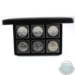 Complete 2011-2013 Canada $5 1oz Fine Silver Wildlife Series Maple Leafs with display box (Coins are