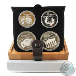 1976 Montreal Olympics 4-Coin Silver Proof Set # 5-8. with Original Display Box and Certificate of A