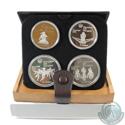 1976 Montreal Olympics 4-Coin Silver Proof Set # 9-12. with Original Display Box and Certificate of