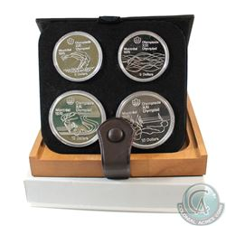 1976 Montreal Olympics 4-Coin Silver Proof Set # 17-20 with Original Display Box and Certificate of