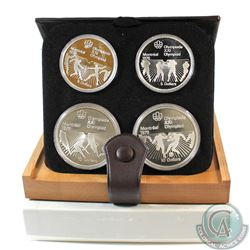 1976 Montreal Olympics 4-Coin Silver Proof Set # 21-24 with Original Display Box and Certificate of