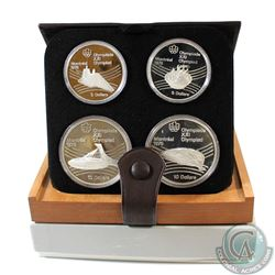 1976 Montreal Olympics 4-Coin Silver Proof Set #25-28 with Original Display Box and Certificate of A