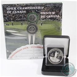 2004 Open Championship 10-cent Anniversary set with $5 Open Championship Silver Proof Coin. Please n