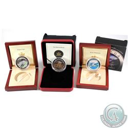 Lot of Natural Wonders $20 Fine Silver Coins. You will receive 2003 The Rockies, 2003 Niagara Falls,