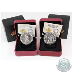 2014 $10 Mobilization of Our Nation & 2014 $5 Expeditionary Force Fine Silver Coins (Tax Exempt). Co