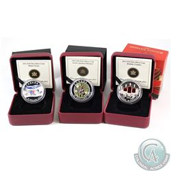 2013 $10 Twelve-Spotted Skimmer, 2013 $10 Holiday Candles, 2013 $10 Winter Scene Fine Silver Coins (