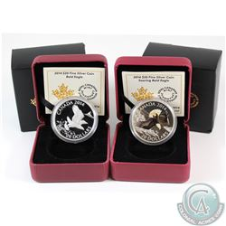 2014 $20 Bald Eagle & 2014 $20 Soaring Bald Eagle Fine Silver coins (TAX Exempt). Coins come in orig