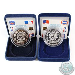 1992 & 1993 Limited Edition Toronto Blue Jays World Champions 1oz Fine Silver coins (TAX Exempt). Co