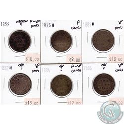 Group Lot 1859-1886 Canada Large 1-cent (impaired) You will receive the following dates: 1859 Narrow