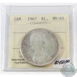 1967 Canada $1 ICCS Certified MS-65