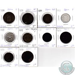 Lot of 10x Spanish Coinage Dated 1812-1927 in VG-F to XF as per holders. 10pcs