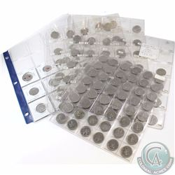 Estate Lot of 140x Canada 25-cent Dated 1968-2010 in Plastic Pages. Many Commemorative coins include