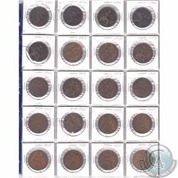 Lot of 20x Great Britain Pennies Dated 1891-1967 in Plastic Page. 20pcs
