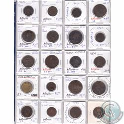 Estate Lot of 20x Miscellaneous Copper World Coinage in Plastic Page. 20pcs