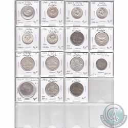 Estate Lot of 15x Australian Silver Coinage Dated 1910-1960 in Plastic Page. 15pcs