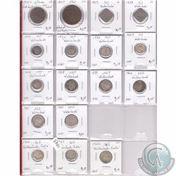 Estate Lot of 17x Netherlands Silver Coinage Dated 1826-1942 in Plastic Pages. 17pcs