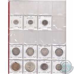 Lot of 11x Netherlands Silver Coinage Dated 1917-1965 in Plastic Page. 11pcs