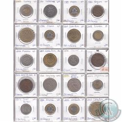 Lot of 20x Miscellaneous World Coinage Dated 1913-2009 in Plastic Page. 20pcs